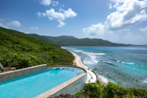 View from luxury home in Reef Bay, St John