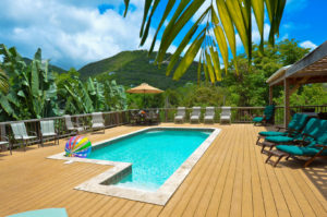 Secluded home in reef bay St John with pool