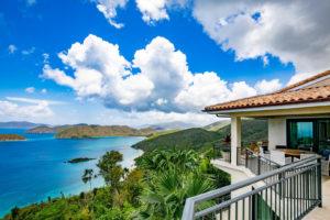Home overlooking Maho Bay, St John